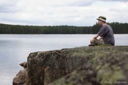 Myllylahti on osa suurta Haukkajärveä.